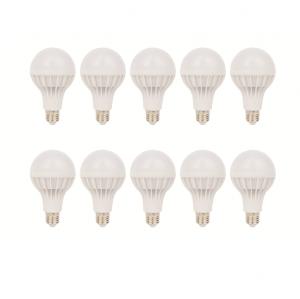 SET 10 BECURI LED PLASTIC 15W LUMINA CALDA