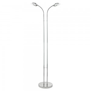 LAMPADAR 2 BECURI LED CROM/ALB 'CANETAL