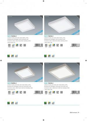 LED-BLE-RGB/CCT DL 225X225 NICKEL 'FUEVA
