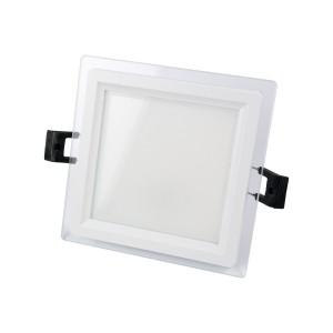 SPOT LED 6W MAT PATRAT STICLA Rece-NV-MB015-6W-R