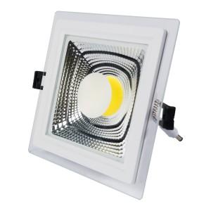 SPOT LED 10W COB PATRAT STICLA Calda-NV-MB013-10W-C