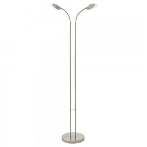 LAMPADAR 2 BECURI LED NICHEL MAT/ALB 'CA